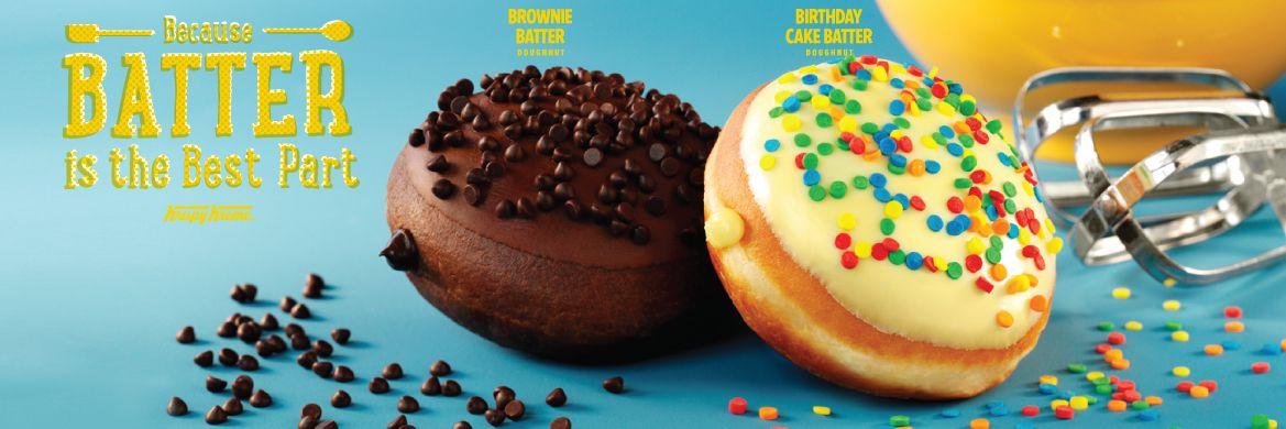 Brownie & Birthday Cake Batter Doughnuts!