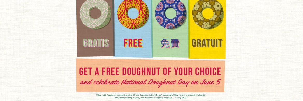National Doughnut Day at Krispy Kreme Canada